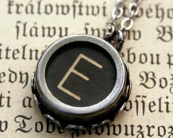 Vintage Typewriter Key Necklace- E