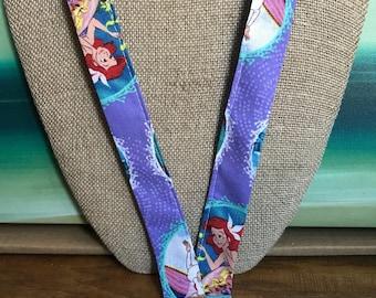 The Little Mermaid ID Badge Holder Lanyard Ariel Lanyard Disney Lanyard
