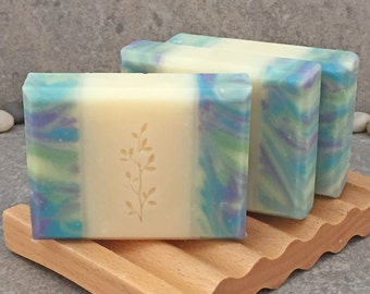 Lemongrass Sage Scented Decorative Handcrafted Coconut Milk Bar Soap
