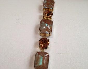Sappharine Saphiret Glass Bracelet Topaz Rhinestones Rich and Elegant