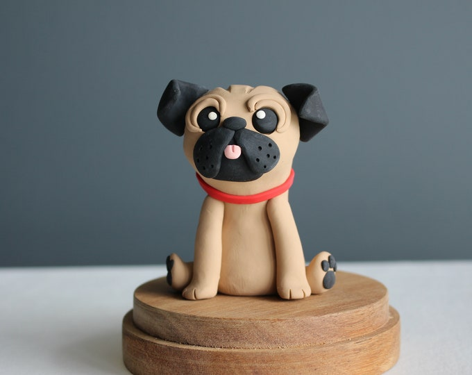 Cute Pug, Dog, Clay Model, Action Figure (Without Base)