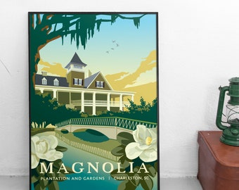 Magnolia Plantation, Charleston SC | Travel Poster | Unframed