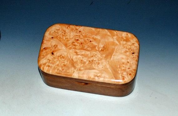Wood Trinket Box - Maple Burl on Walnut - Wood Box, Treasure Box, Stash Box, Wooden Box, Small Jewelry Box, Wood Keepsake Box,Handmade Boxes