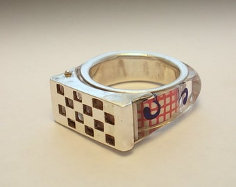 CHESS  RING.  Silver  Art.