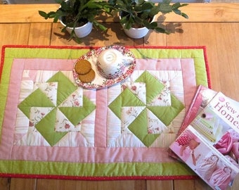 OFFER 20%off Table topper quilted, Card trick quilted , Card trick block quilted
