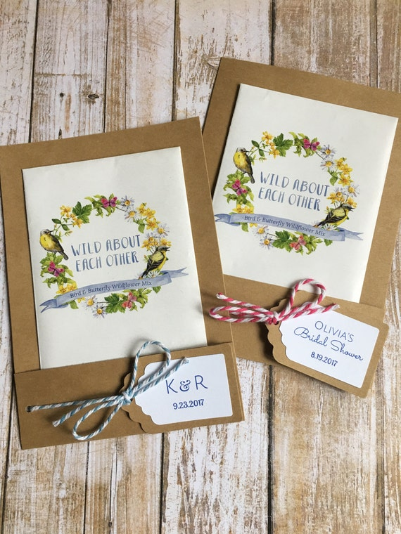 wedding favor flower seeds 12 seed packet favors wedding flower seed favors bridal 9453