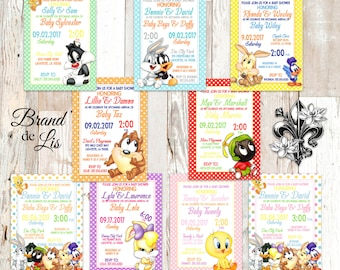 Looney tunes invite Etsy