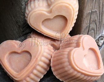Sweet Heart Soap,Makara Naturals,Sweet Natural Scent, Handmade, Luxurious Lather, ColdProcess LyeSoap, Gifts, Birthday, Friends, Thank You