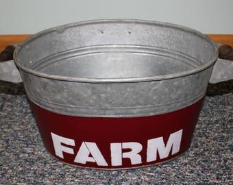 Bucket Galvanized Farm/Garden Place Bucket