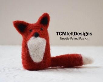 Nadel-Filzen Kit, Fuchs, Wolle-DIY komplett Faser-Kit für Anfänger