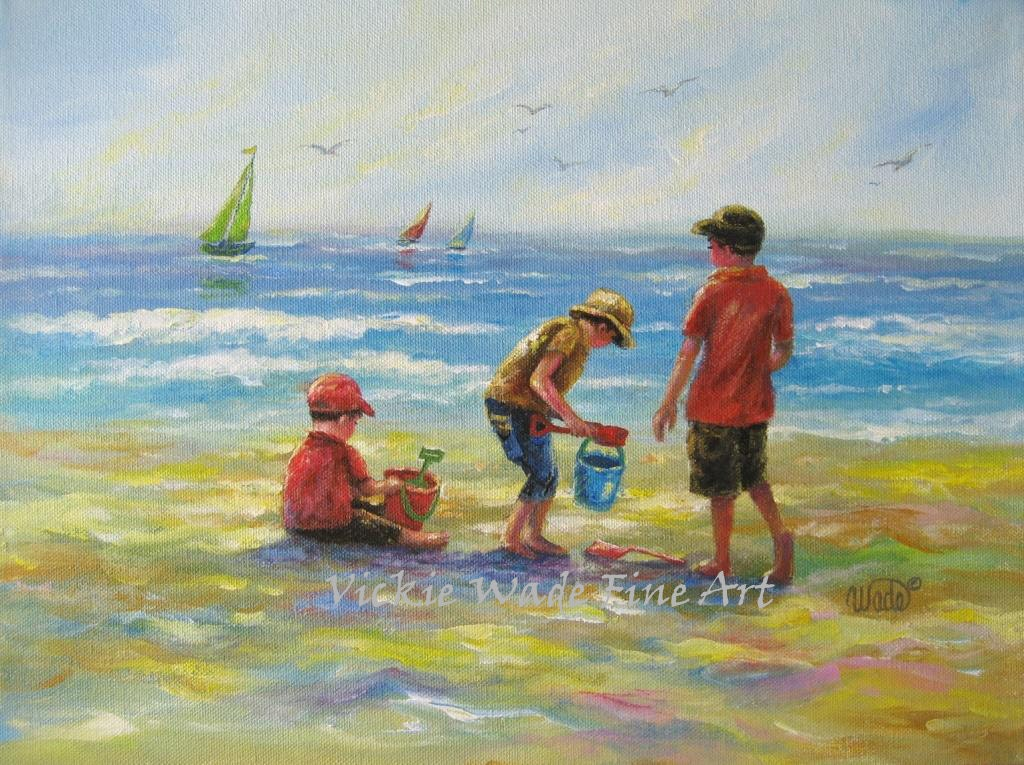 Three Beach Boys Art Print Paintings