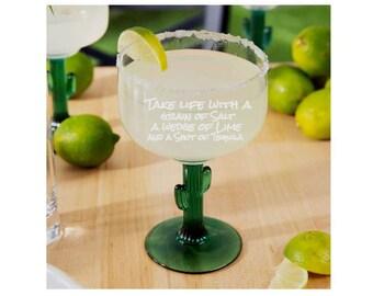 Fiesta time, grain of salt, USA made glass, funny margarita glasses, tiki party, tiki bar party, cinco de mayo, Senorita margarita