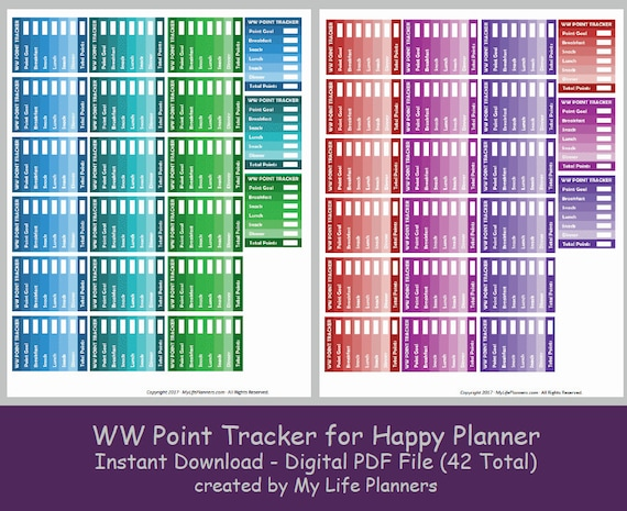 Obsessed image pertaining to weight watchers point tracker printable