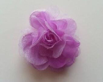 fleur  en tissu mauve  45mm