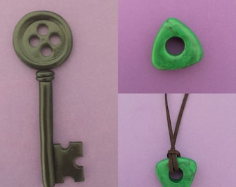 Coraline Seeing Stone - Looking Stone Amulet - Coraline Necklace - Coraline key