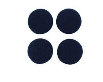 """Sale Clearace 40 Pieces 1/2"""" Round Fabric Covered Flatback in Navy"""