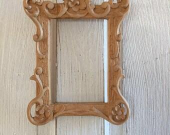 Handcarved Wood Decorative Frame