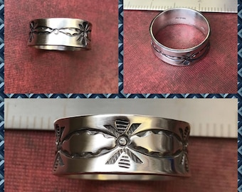 Sterling silver Large heavy band ring