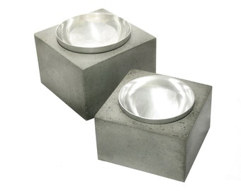 Orb Pet Bowl / concrete dog bowl / concrete cat bowl /dog bowl/ cat bowl