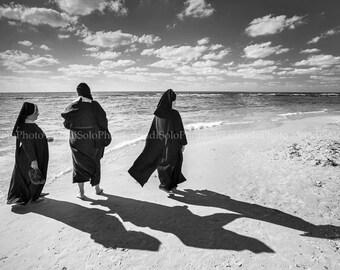 Nuns on the Beach Photography Sea Photography Three Nuns Print Home Decor Fine Art Photography