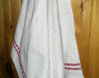 Handwoven Tea Towels, dish towels, 100% cotton, natural fibers, eco-friendly, kitchen towels, modern kitchen, country, teatowels, white