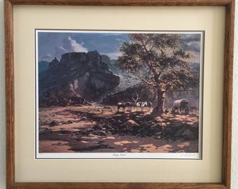 "Olaf Wieghorst (1899-1988) ""Range Chuck"" 240/550 Signed Fine Print"