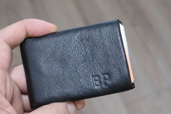 2x Minimalist Wallet, Mens Wallet, Womens Wallet, Limited Edition NERO Wallet Leather Wallet, Gifts for Men, Full RFID Wallet