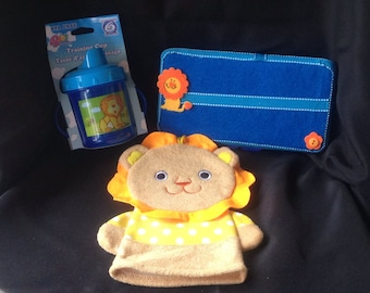 Cute-As-A-Button Personalized Diaper Wipes Case & Friends Set