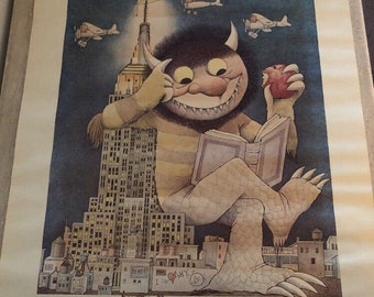 Maurice Sendak Poster 1st NY Book Fair 1979 Where The Wild Things Are Monster