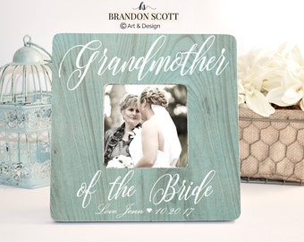Grandmother Picture Frame, Grandmother of the Bride Frame, Grandmother Thank You Wedding Gift, Grandma of the Bride