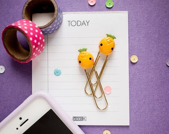 Blushing Pineapple Planner Paperclip - Fruit Paperclip Bookmark - Organizer Bookmark - Planner Charm