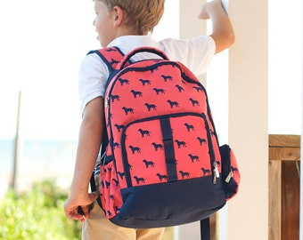 Dog Days Backpack and Lunch box Set, MONOGRAM INCLUDED, Personalized Backpack, Monogram Backpack, Boy Backpack, Back to School