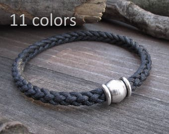 Men's Braided Cotton  Bracelet Best Vegan Men Gift Vegan Braided Cotton Rope Bracelet Vegan Gift Best Vegan Gift Men's Vegan