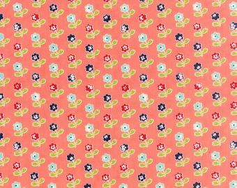 SALE!! 1/2 Yard - Vintage Picnic-Bonnie and Camille - Coral - Moda - Fabric Yardage - 55121-13