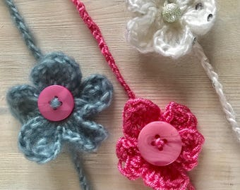 Newborn Crochet Headband with a cute flower