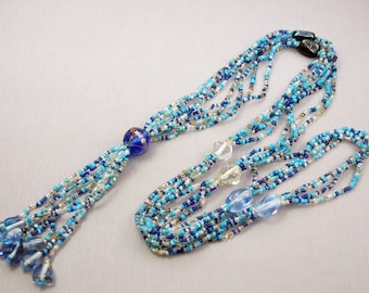 Victorian Beaded Necklace Long Beaded Necklace Victorian Jewelry