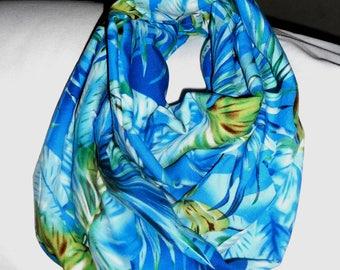 Blue Hawaiian infinity scarf
