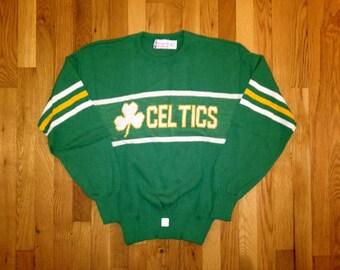 vintage cliff engle boston celtics sweater mens size large