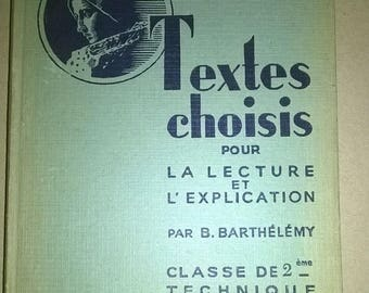 182) old french school book from 1952
