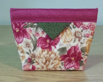 Quilted Snap Bag (SB042) Floral