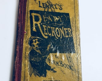 Leary's Ready Reckoner and Form Book, Vintage Books, antique books, old books