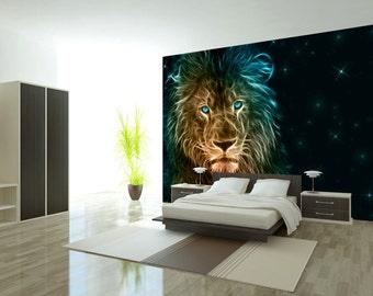 Photo Wallpaper Wall Murals Non Woven 3D Modern Art Optical Illusion  Abstract Lion Wall Decals Bedroom Decor Home Design Wall Art Decals 280