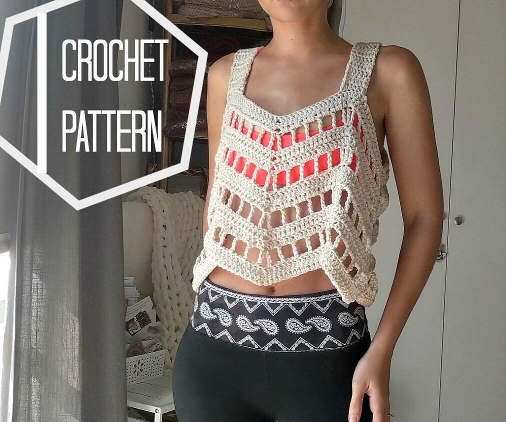 Lace Crochet Top Pattern, Crochet Coverup Pattern, Boho Crochet ...