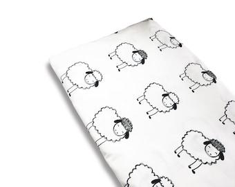 Organic Fitted Crib Sheet- Sheep Crib Sheet, Nursery Crib Sheet, Cot Sheet, Baby Crib Sheets