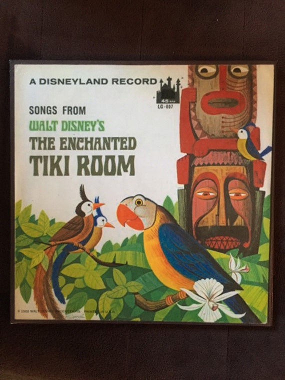 Walt Disney S Enchanted Tiki Room Vintage Lp Art