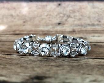 Swarovski slider bracelet