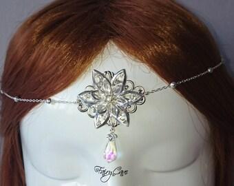 elven tiara, fairy tiara, elven circlet, fairy circlet, medieval tiara, medieval crown, queen crown, fairy headband, bridal tiara