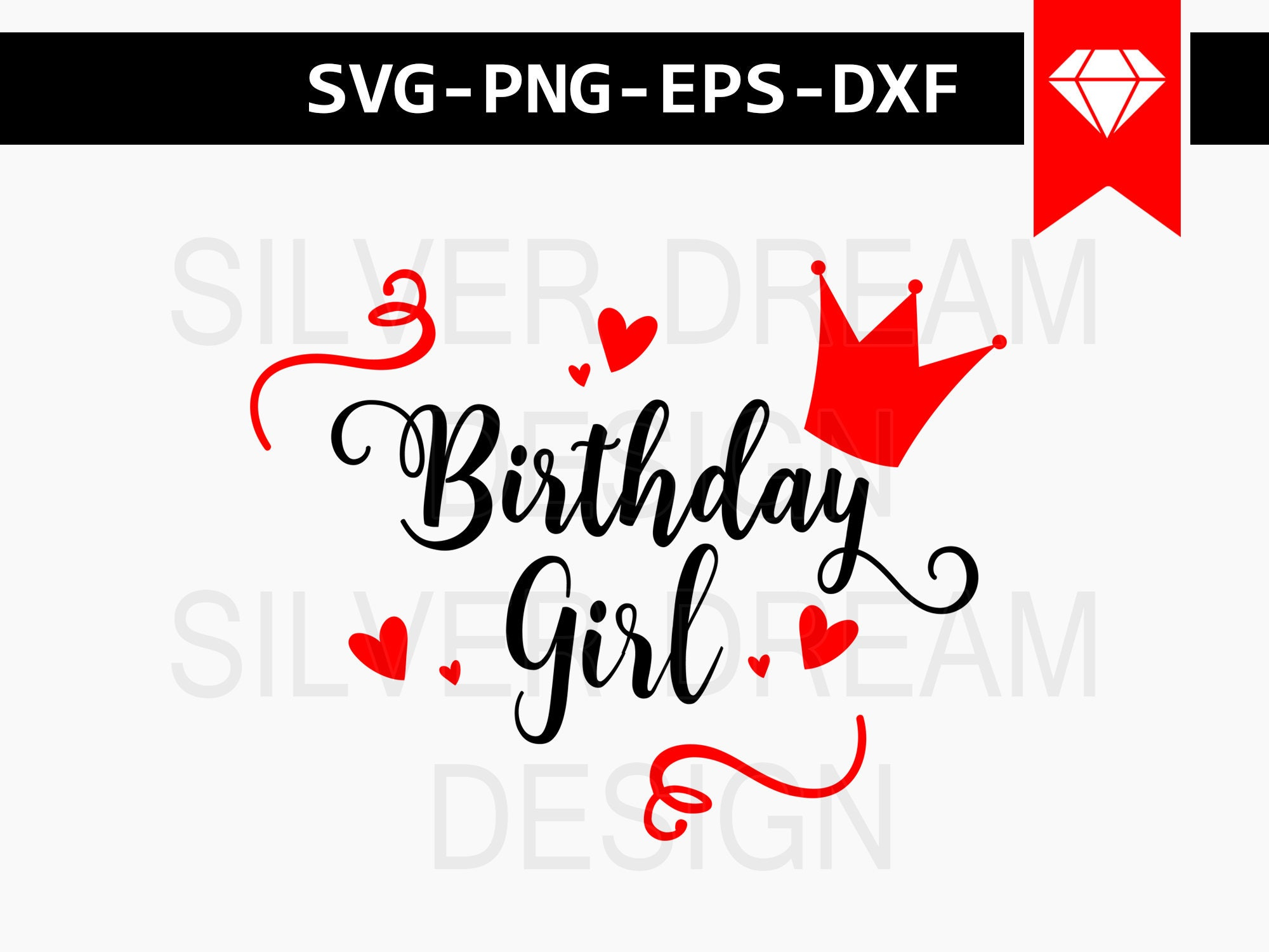 Birthday Girl Svg File Birthday Princess Birthday Shirt