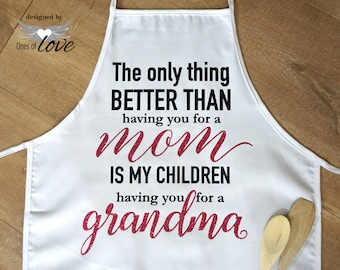 Mother's Apron | gift for her | Mother's Day Gift | Kitchen Apron | Cooking Apron | Baking Apron | Personalized Apron | Chef's Apron