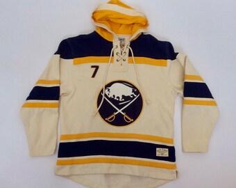 Rare Rick Martin Buffalo Sabres Old Time Hockey Jersey Hoodie Sweatshirt Size Large